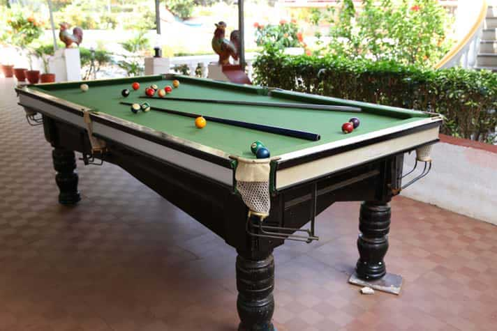 Game room at Goa Resort