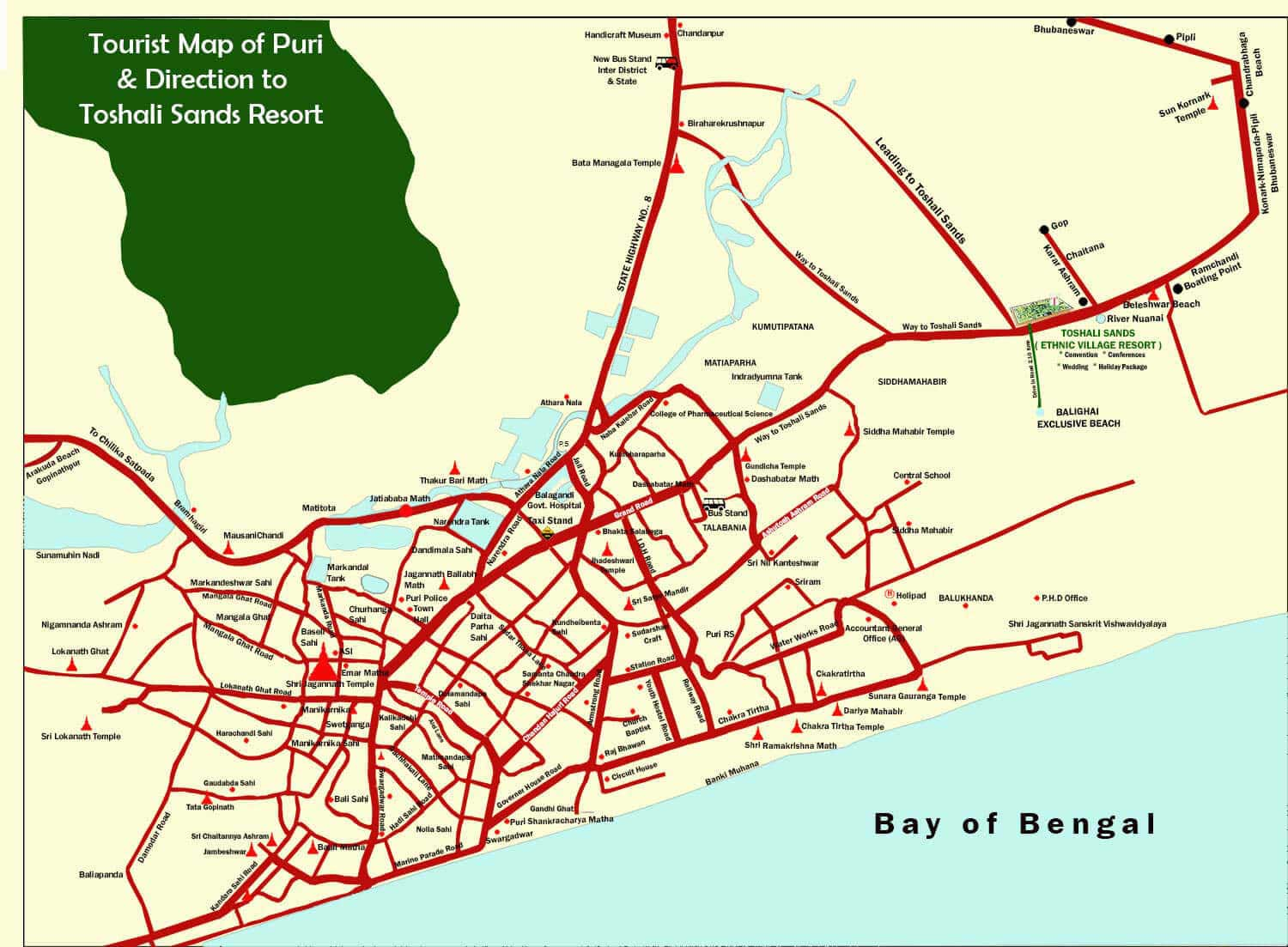 puri road map